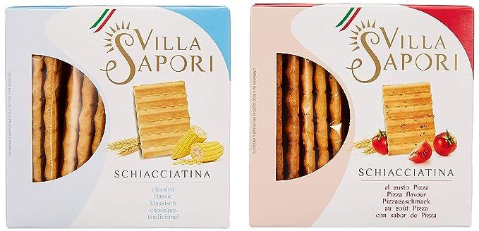 Villa Sapori - Schiacciatina surtida, caja de 1,2 kg (pack de 8