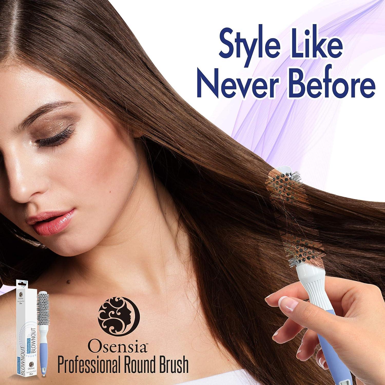 Cepillo redondo PRO para secador - Cepillo de pelo redondo mediando - Cepillo  cerámico ionico - Cepillo modelador secado ... 1f0c7b06646c