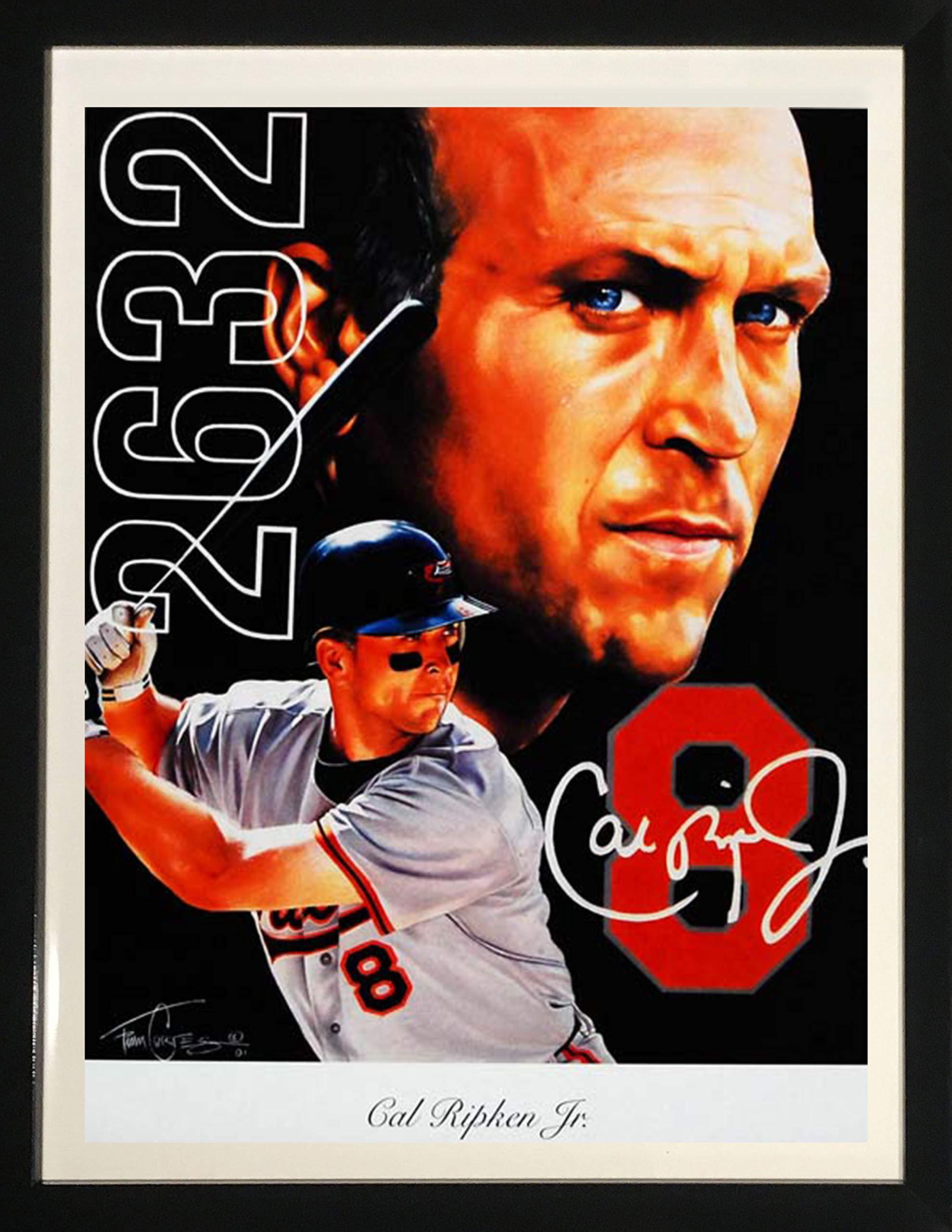 Framed Art''Cal Ripken, Jr.'' by Tim Cortes by