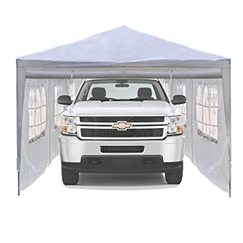 ALEKO Portable Car Storage Carport Garage Canopy Shelter 30 x 10 Feet White  sc 1 st  Amazon.com & Amazon.com: ALEKO Portable Car Storage Carport Garage Canopy ...
