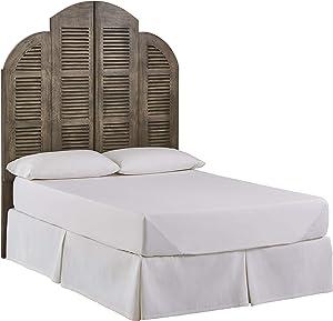 Amazon Brand – Stone & Beam Lyla Rustic Slat Bed Headboard - King, 79 Inch, China Gray