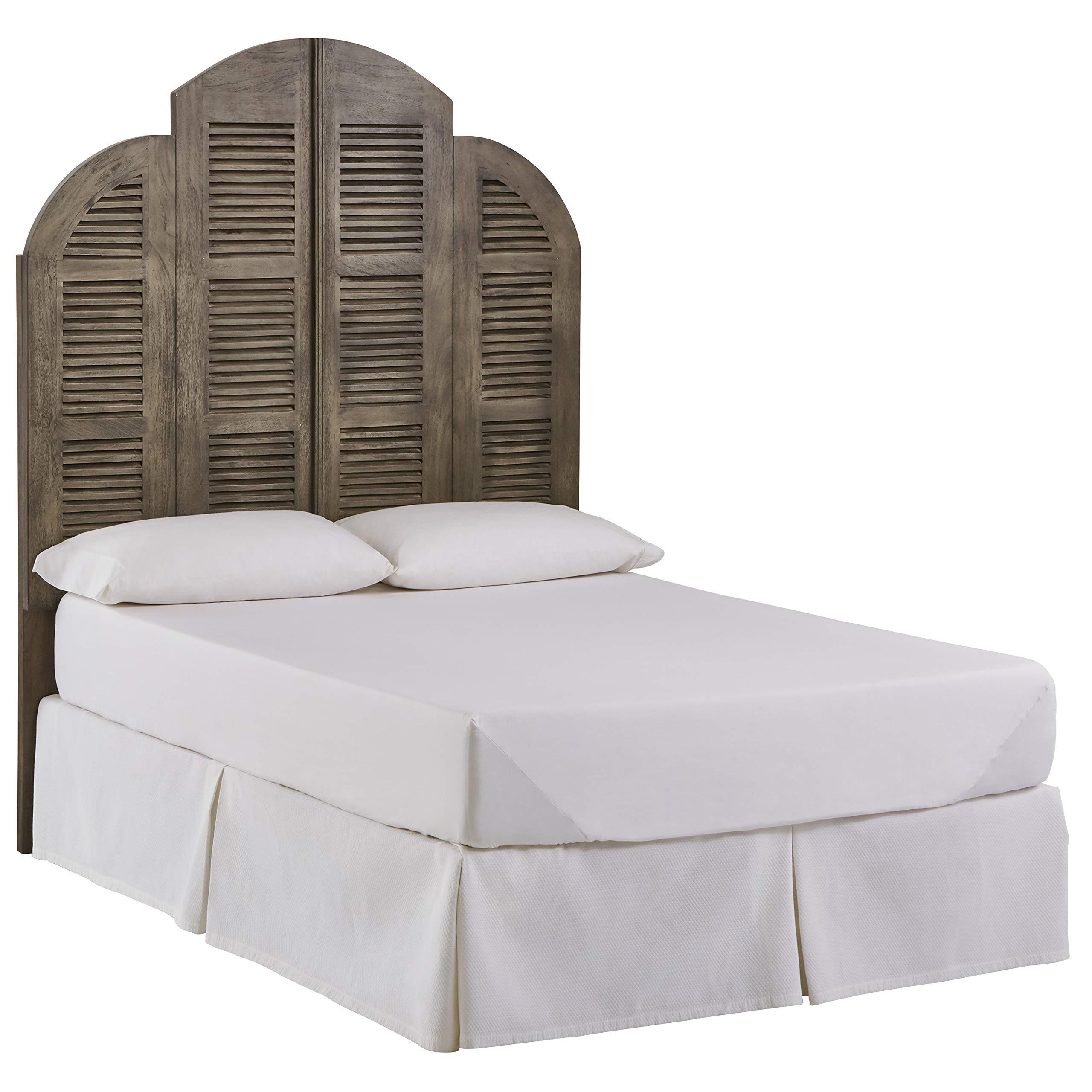 Stone & Beam Lyla Rustic Slat Bed Headboard - Queen, 64 Inch, China Gray by Stone   & Beam