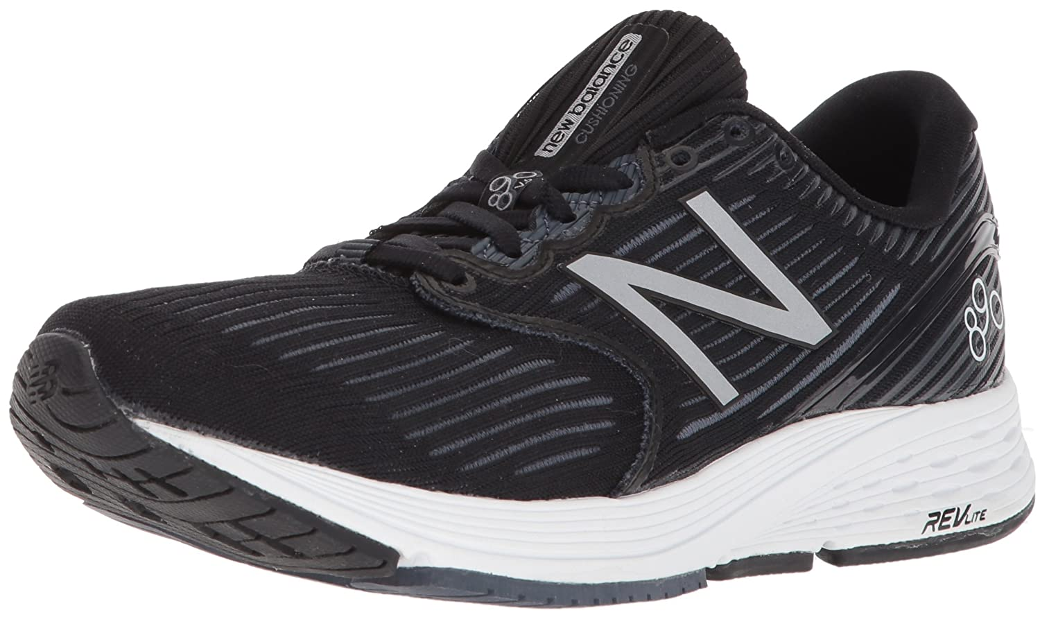 New Balance Women's 890v6 Running Shoe B06XSC6LS6 12 D US|Grey/Black