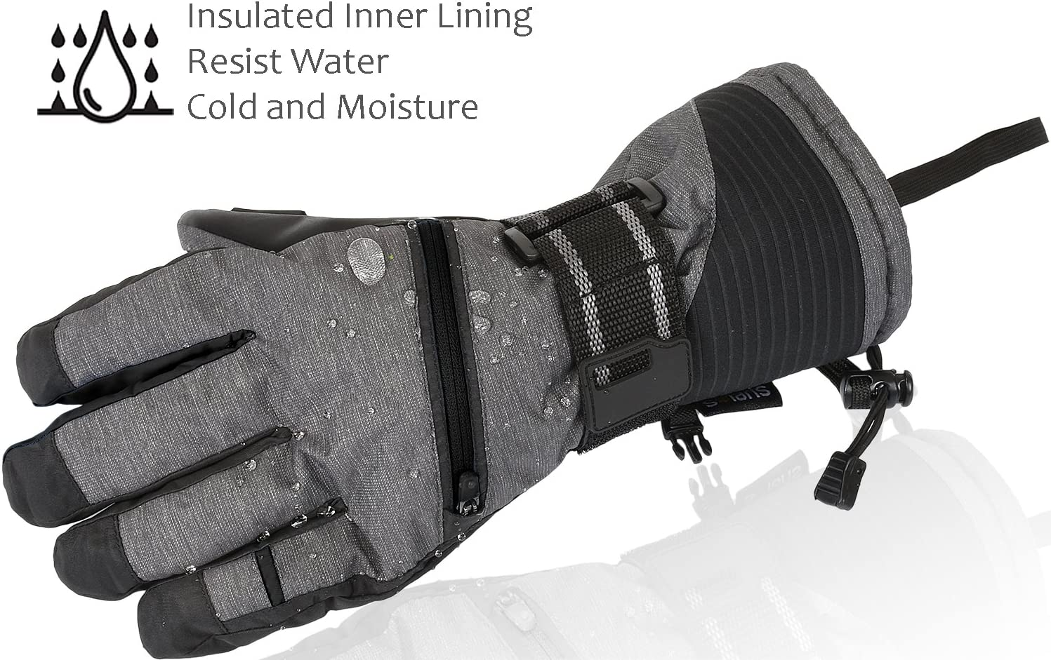 Winter Warm Cozy 3M Thinsulate Snow Gloves for Skiing Cycling Shoveling Gifts for Men,Women Waterproof Ski Gloves Outdoor Sports Snowboarding