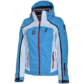 Icepeak Cara Damen Skijacke Winterjacke Jacke BlauWeiss