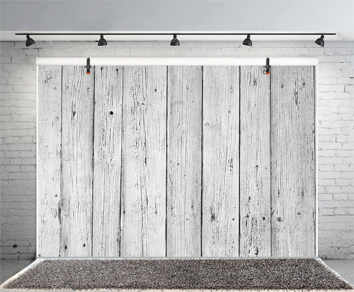 CdHBH 9x6ft White Wooden Plank Backdrop Clothes Products Wood Photography Background Vinyl Adults Kids Newborn Baby Children Portrait Photo Booth Props