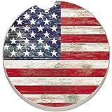 Counter Art Absorbent Stoneware Car Coaster, Americana