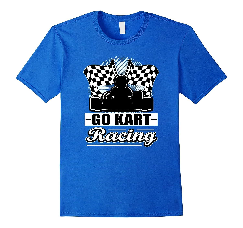 Go Kart Racing Funny White Silhouette T-Shirt-TJ