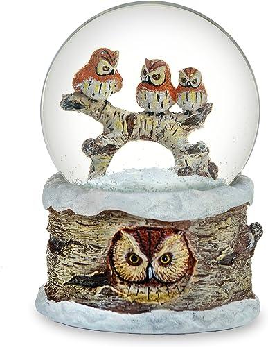 The San Francisco Music Box Company Musical Owl Dome