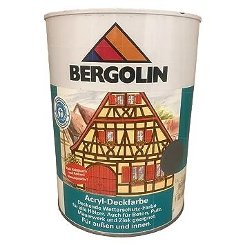 Bergotec Acryl Deckfarbe Grau 10 L Amazonde Baumarkt
