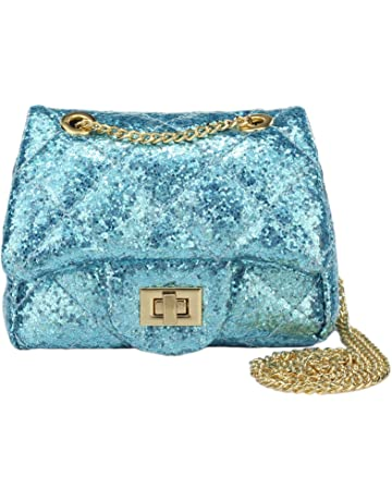 c7c67990d0bb CMK Trendy Kids Sparkly Glitter Toddler Kids Purse for Girls Quilted Little  Girl Purses