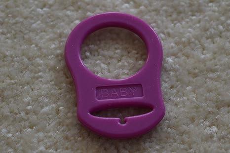 Anillos de silicona (adaptador) para cadenas de chupete en diferentes colores rosa