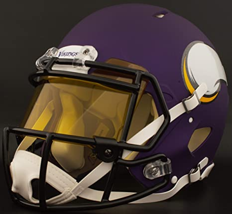 fb40e36f Image Unavailable. Image not available for. Color: Riddell Custom Minnesota  Vikings Full Size NFL Speed Authentic Football Helmet