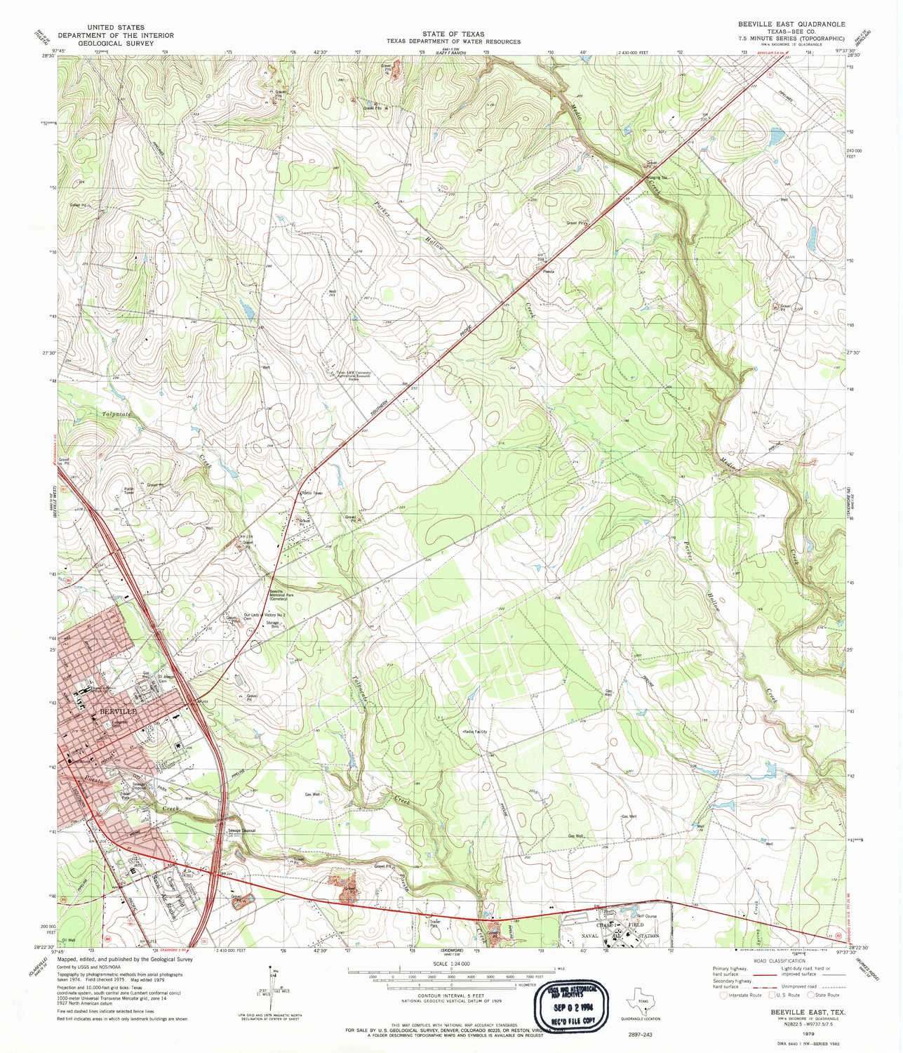 Amazon.com : YellowMaps Beeville East TX topo map, 1:24000 scale, 7.5 X 7.5 Minute, Historical, 1979, updated 1979, 27.1 x 23.3 IN - Paper : Sports & ...
