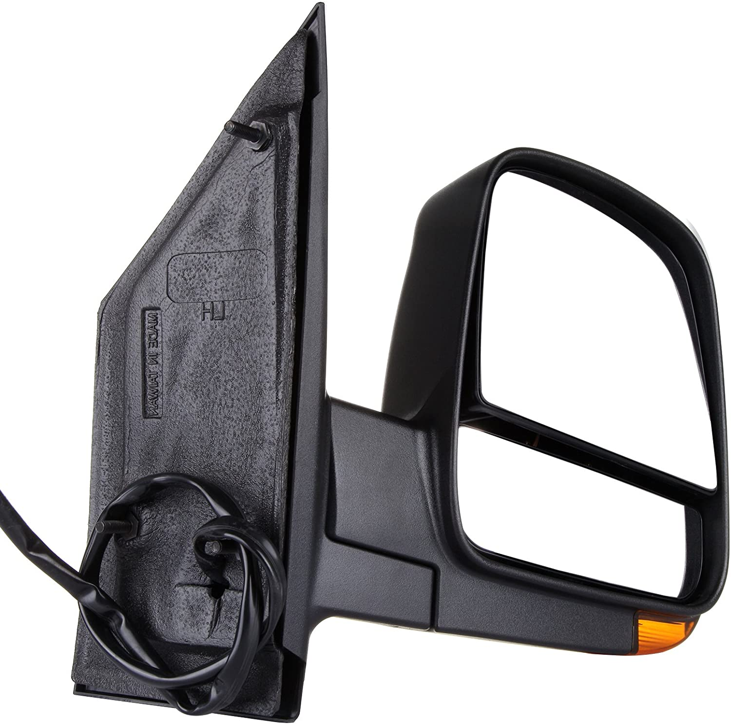 Mirror with Signal Light ONLY SCITOO Side View Mirror Driver Side Mirror Fit Compatible with 2008-2017 Chevrolet Express Van 2008-2017 GMC Savana Van 15227416 GM1320397