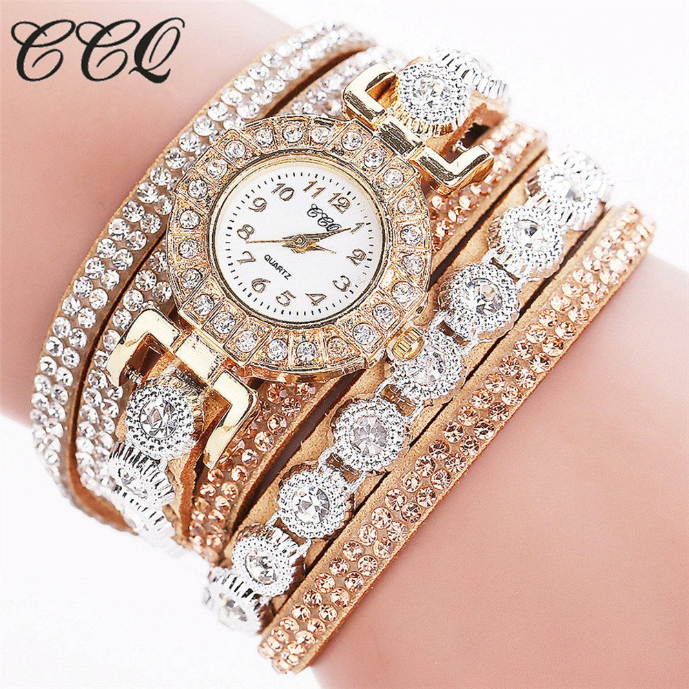 efe1d8a51 Rhinestone Bracelet Watch,COOKI Analog Fashion Clearance Lady Watches  Female Watches on Sale Casual Wrist Watches for Women,Round Dial Case  Comfortable PU ...