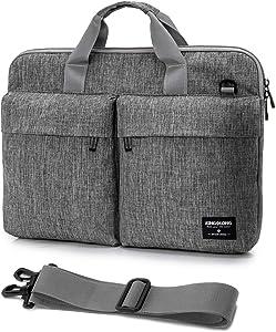 KINGSLONG 15.6 Inch Laptop Bag for Men Women Messenger Bag Laptop Sleeve Case Computer Bags with Shoulder Strap Handbag PC Briefcase Crossbody Bags