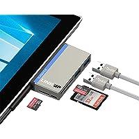 """LINKUP USB Memory Card Reader SD/Micro SD Card Slots 2 USB 3.0 Hub Card Reader Combo Adapter Microsoft Surface Pro 3(12.3"""")/Pro 4/Pro"""