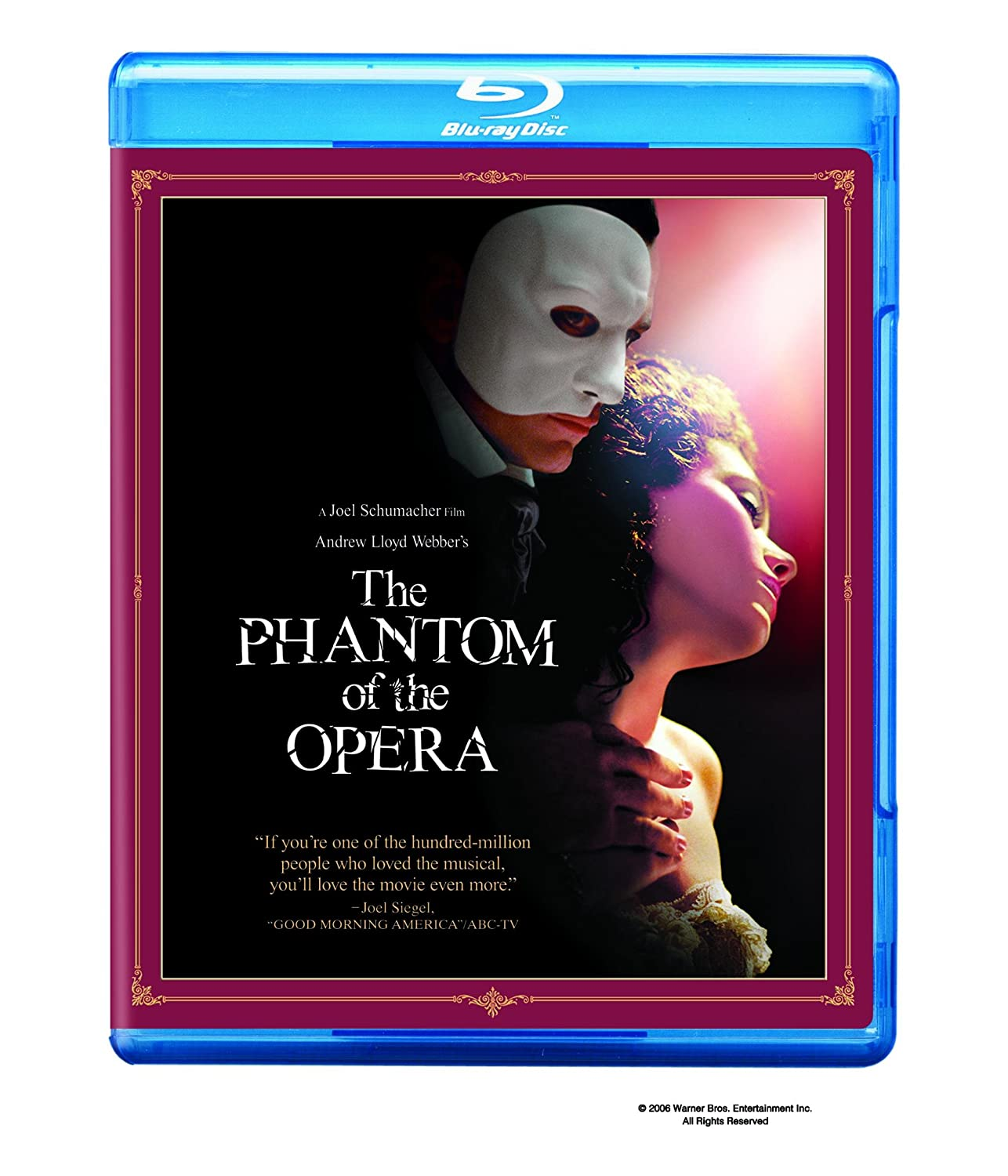 The Phantom Of The Opera Blu Ray Gerard Butler Emmy Rossum Patrick Wilson Minnie Driver Ciaran Hinds Miranda Richardson Simon Callow Paul Brooke Gavin Lee Murray Melvin Judith Paris James Fleet Kevin