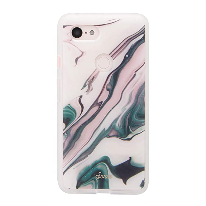 new product ec3e4 f5981 Sonix Blush Quartz (Pink Marble) Cell Phone Case [Military Drop Test  Certified] Women's Protective Clear Series for Google Pixel 3XL
