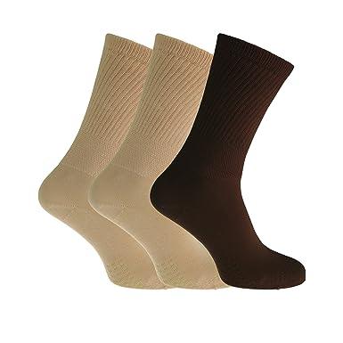 Severyn Calcetines extra anchos cómodos para diabéticos para mujer (3 pares) (37-
