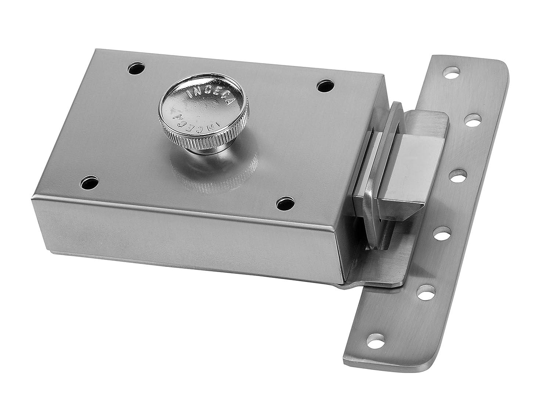 Inceca 3650005 - Cerradura de sobreponer contra palanca y pomo, derecha (acero, bombillo de 55 mm): Amazon.es: Bricolaje y herramientas
