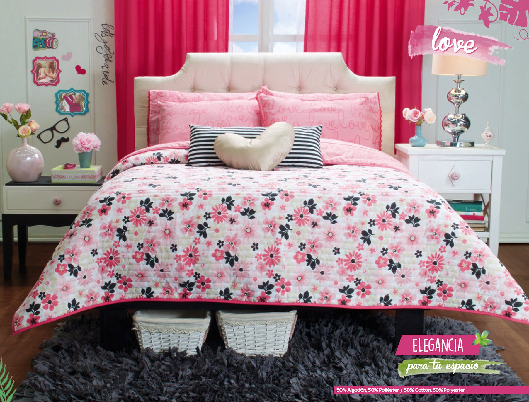 Love New Collection 3 piece Reversible Comforter Twin