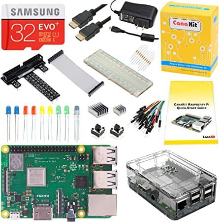 UL Listed CanaKit Raspberry Pi 3 Kit with Premium Clear Case and 2.5A Power Supply