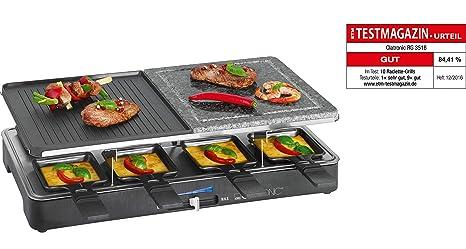 Clatronic Elektrogrill Test : Clatronic rg raclette grill mit heißem stein zum grillen und