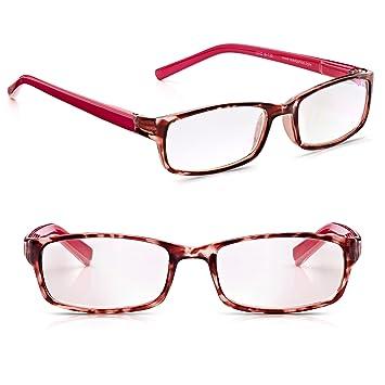 6974ffb896b Read Optics 2 Pack Chic Full Frame Reading Glasses for Women  Raspberry  Bellini Tortoiseshell and