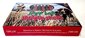 Jingle Bells Shotgun Shells Holiday Lights for the Sportsman Brand New 10 Lights * 8 Feet