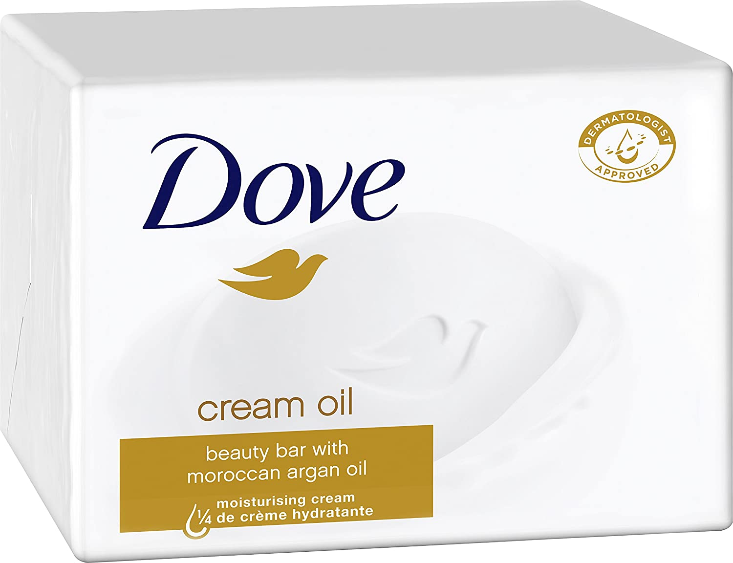 Dove Waschstück Beauty Cream Bar Seife Cream Oil, 6er Pack (6 x 100 g) 8710908471612