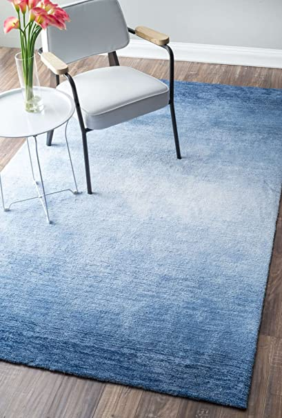 Amazon Com Contemporary Area Rugs Blue Ombre Modern Area Rug Hand