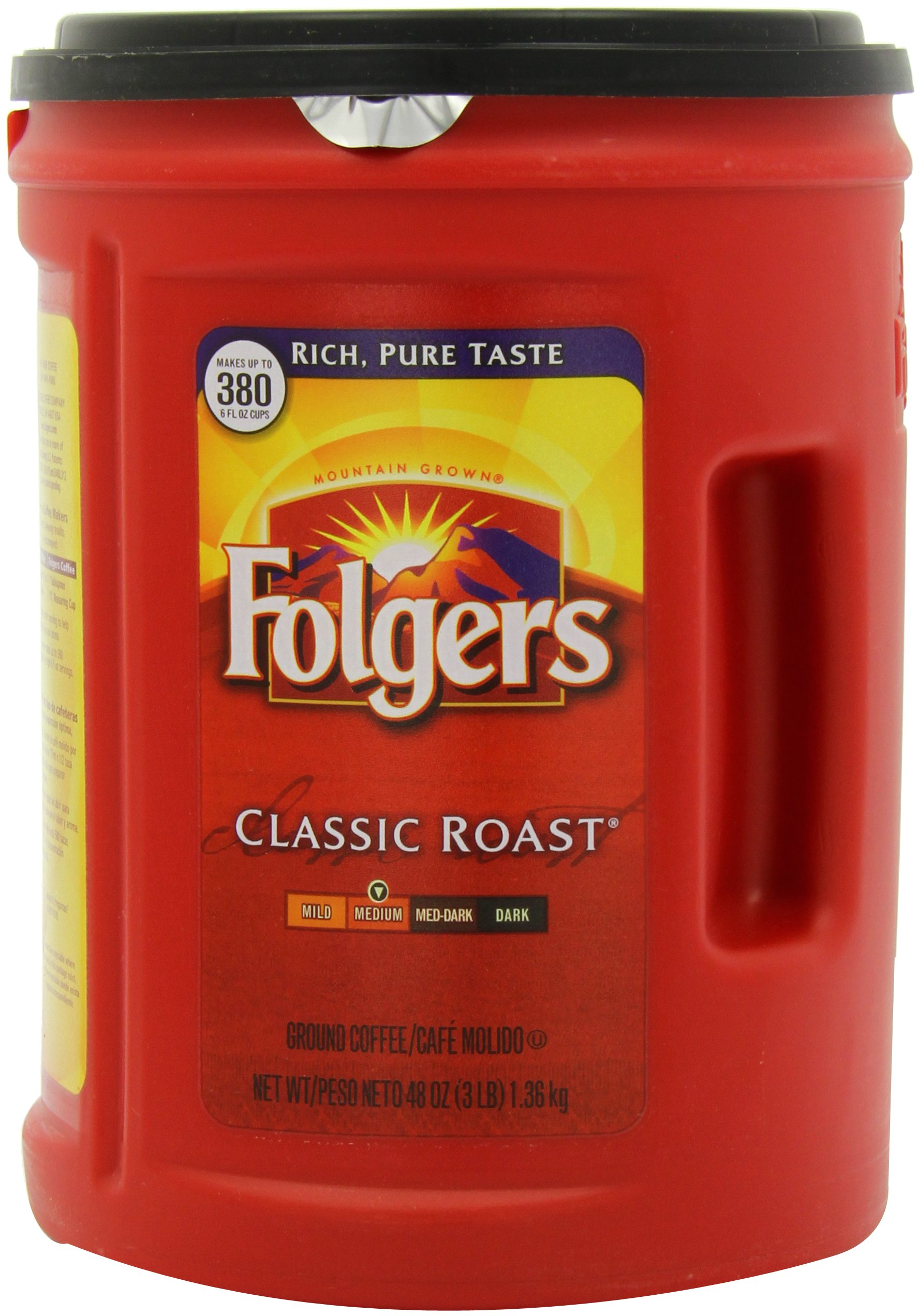 Folgers Coffee, Classic Roast, 48 Ounce (Pack of 12) by Folgers