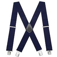 Chalier 50MM Bretelles pour Hommes et Femmes Style X Larges Bretelles de Travail Bretelles Réglables Élastique