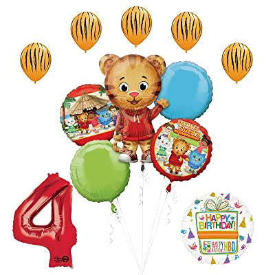 The Ultimate Daniel Tiger Neighborhood 4th Birthday Party Supplies And Balloon Decorations Toys Games