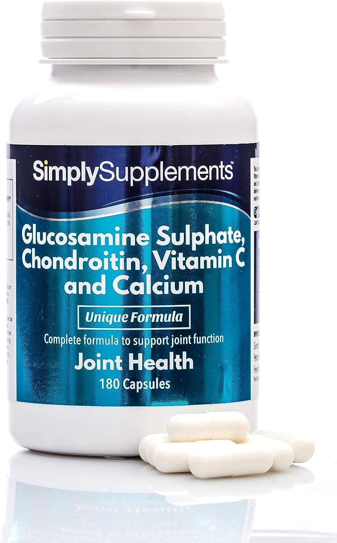 Glucosamina, Condroitina, Vitamina C y Calcio - ¡Bote para 6 meses ...