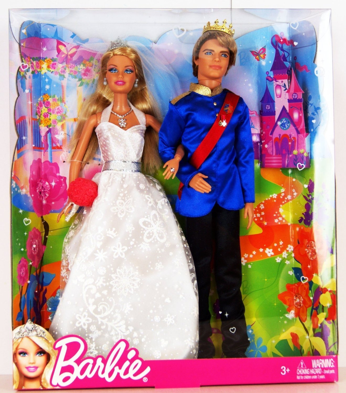 Amazon Barbie Fairytale Wedding Doll Set Toys Games