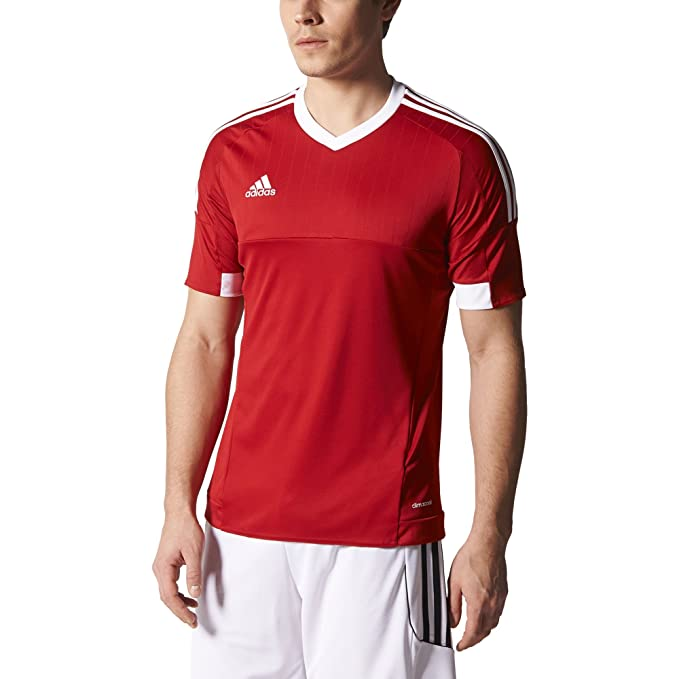 b4a942bae2d2 Amazon.com   adidas TIRO 15 Jersey  POWRED WHITE  (M)   Sports ...