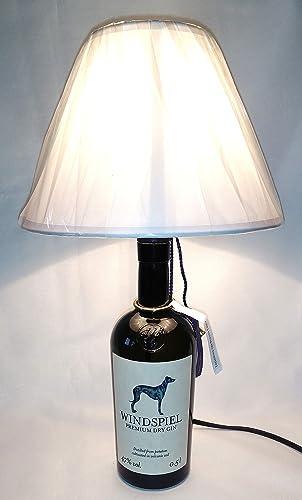 Lampada Da Tavolo Bottiglia Vuota Gin Windspiel Idea Regalo Riciclo Creativo Riuso Arredo Design Paralume Abat Jour Amazon It Handmade