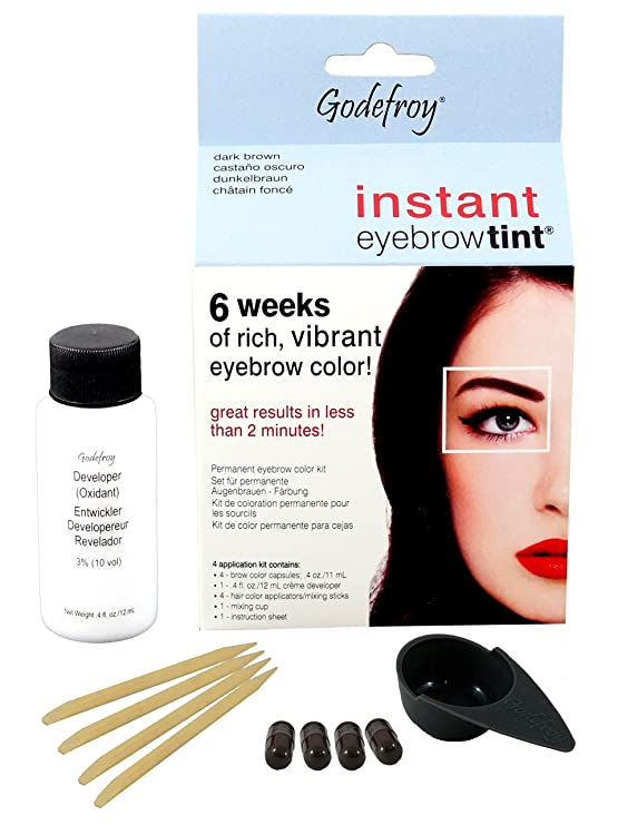 Godefroy Instant Eyebrow Tint Blister Dark Brown Blister Amazon
