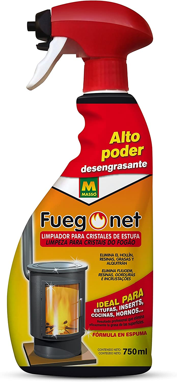 Fuegonet 231017 Limpia Estufas, Transparente, 27x11x6 cm