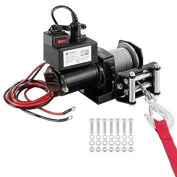 Pallan Câble 12 V Électrique 900 Kg Treuil À wmNOnv80