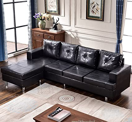 Harper U0026 Bright Designs Modern Style Living Room L Shape Sectional Sofa  With Reversible Chaise Lounge