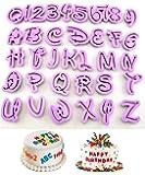 KOOTIPS Set of 36pcs DIY Letter Number Cake Mould Fondant Sugarcraft Cookie Plunger Cutter Mold Decorating Tools