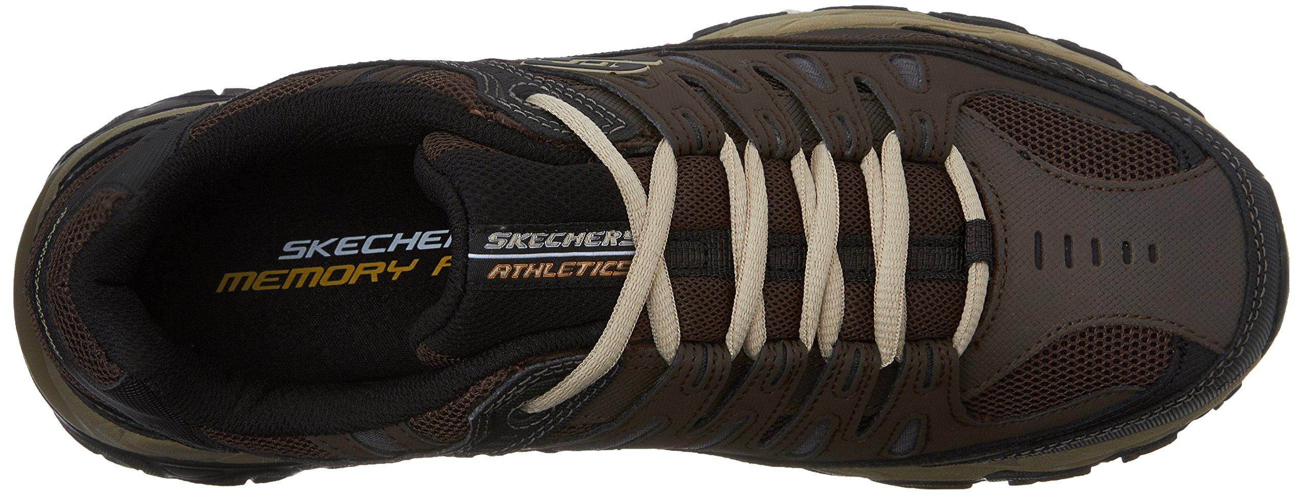 Skechers Men's AFTERBURNM.FIT Memory Foam Lace-Up Sneaker, Brown/Taupe, 7.5 M US by Skechers (Image #8)