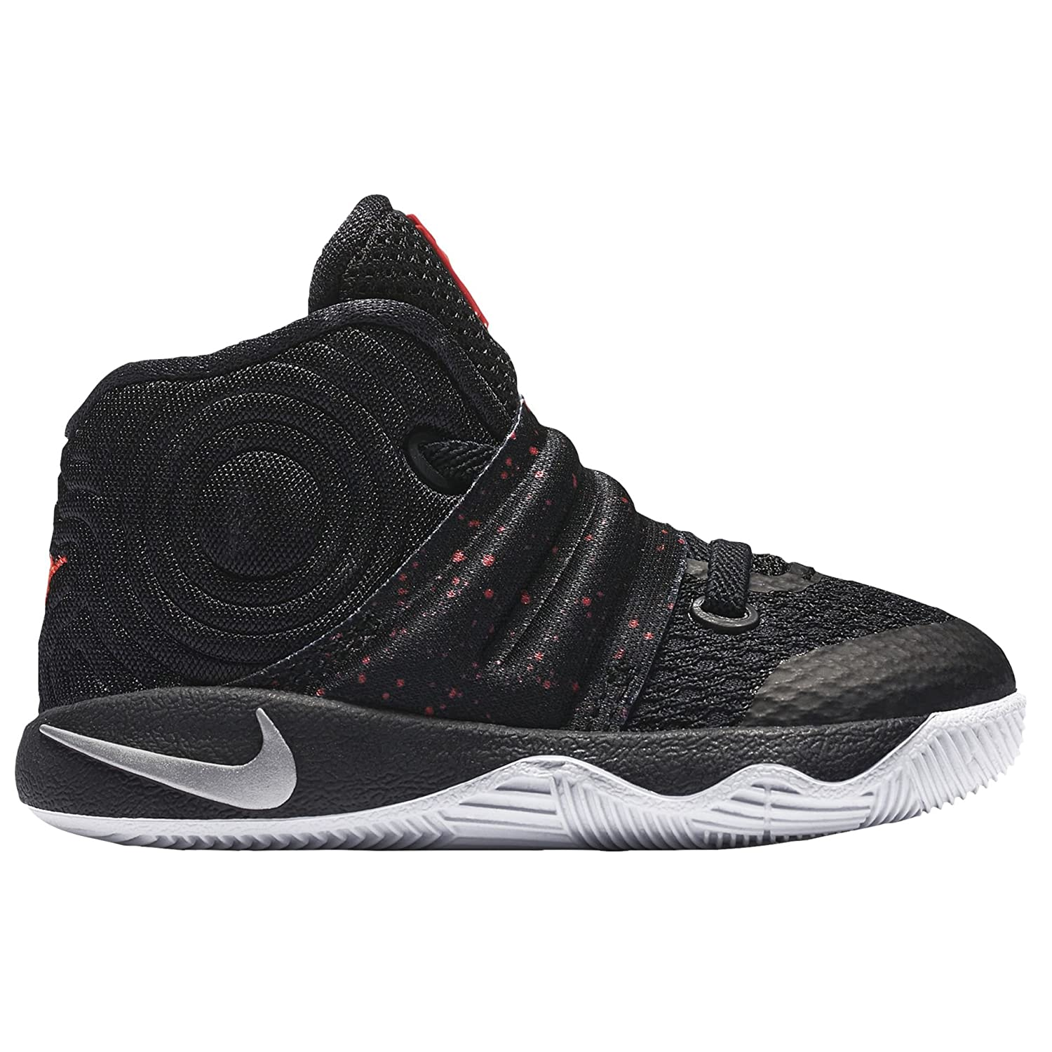 reputable site 9fda6 b48bc Amazon.com   NIKE Toddler s Kyrie 2 (TD) Speckles Edition Basketball Shoes  2C Black Red   Sneakers