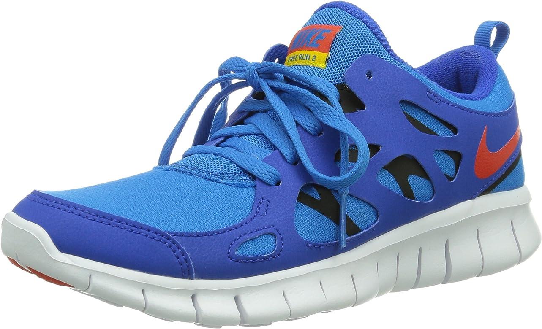 NikeFree Run 2 (GS) - zapatillas de running Niños, Azul (Hyper Cobalt/Tm Orange-Photo Blue-Black), 38: Amazon.es: Zapatos y complementos