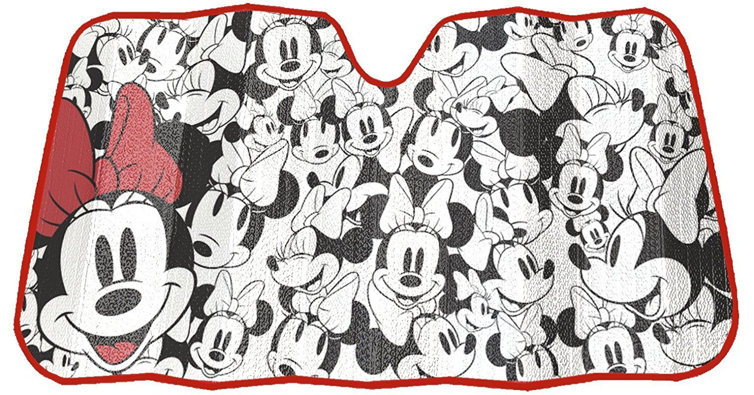 Disney Minnie Mouse Expressions Truck Car Suv Front Windshield Accordion Folding Sun Shade 27.5 X 58 Inches by Infinity Stock