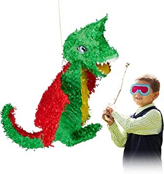 Amazon.com: Relaxdays 10022572 - Pinata colgante de dragón ...